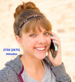 2750 (2K75) minutes Prepaid Phone Calling Card for US 1